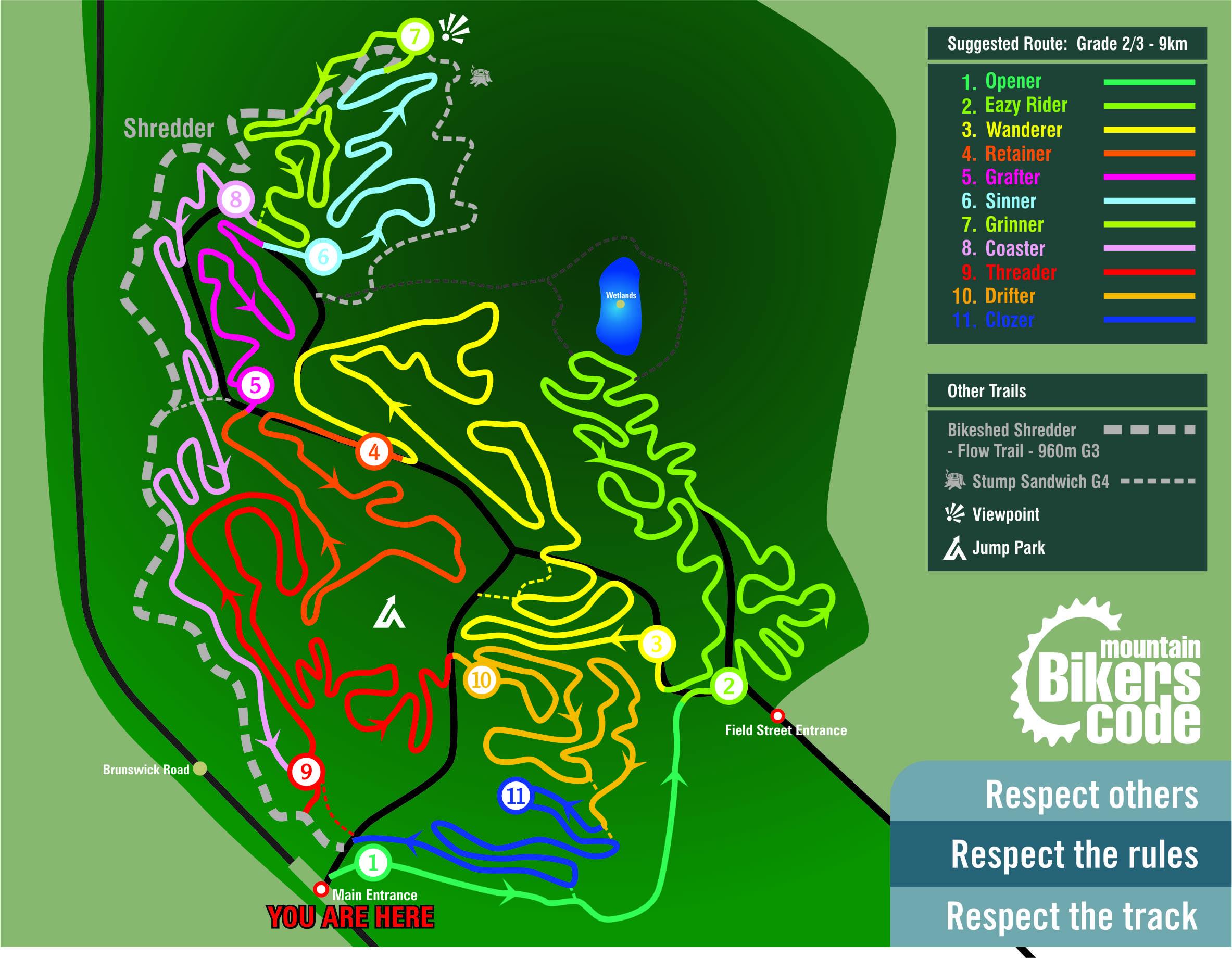 Hyltons Pit 2020 Map